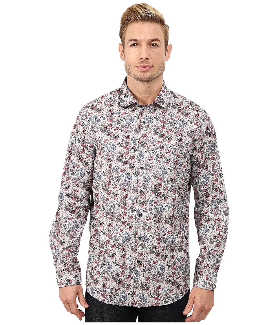 Rodd amp Gunn Ambrosia Printed Sport Shirt Stone Mens Long Sleeve Button Up