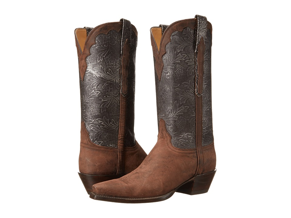 Lucchese - L4744.54 (Distressed Pewter/Vintage Black) Cowboy Boots