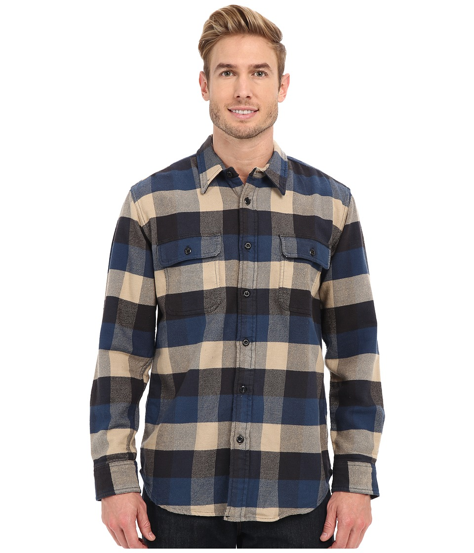 Filson Vintage Flannel Work Shirt Blue Buffalo Mens Clothing