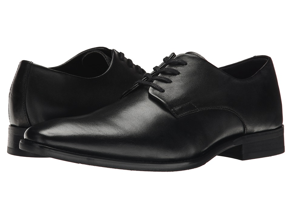 Calvin Klein - Ramses Black Leather Mens Lace up casual Shoes $120.00 AT vintagedancer.com