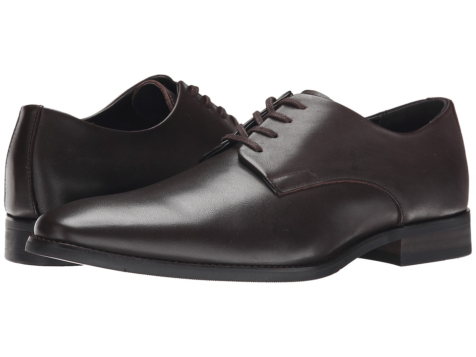 Calvin Klein - Ramses Dark Brown Leather Mens Lace up casual Shoes $120.00 AT vintagedancer.com