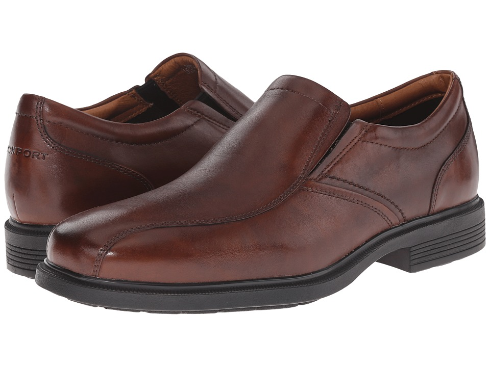 Rockport Dressports Luxe Bike Toe Slip On New Brown Mens Shoes