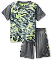 Nike Kids - Aop Poly Mesh Short Sleeve Shorts Set (Little Kids)