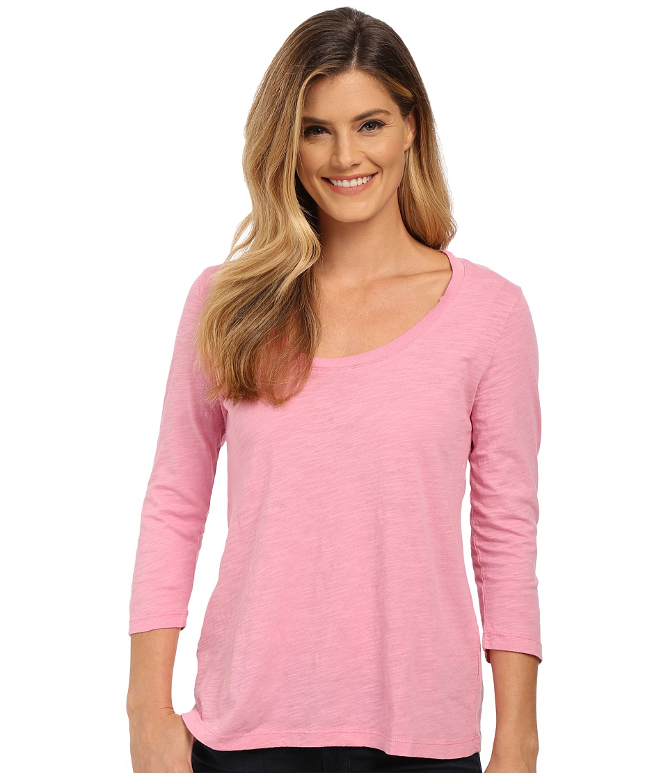 Mod o doc Slub Jersey 3/4 Sleeve Scoop Neck Tee Rosy Womens T Shirt