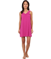 Mod-o-doc - Cotton Modal Spandex Jersey Banded V-Neck Dress Cover-Up