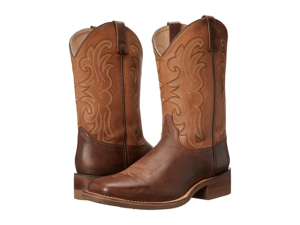 Dan Post Lindberg (Dark Brown/Saddle Tan) Cowboy Boots