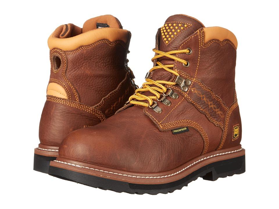 Dan Post Gripper Zipper (Brown) Cowboy Boots