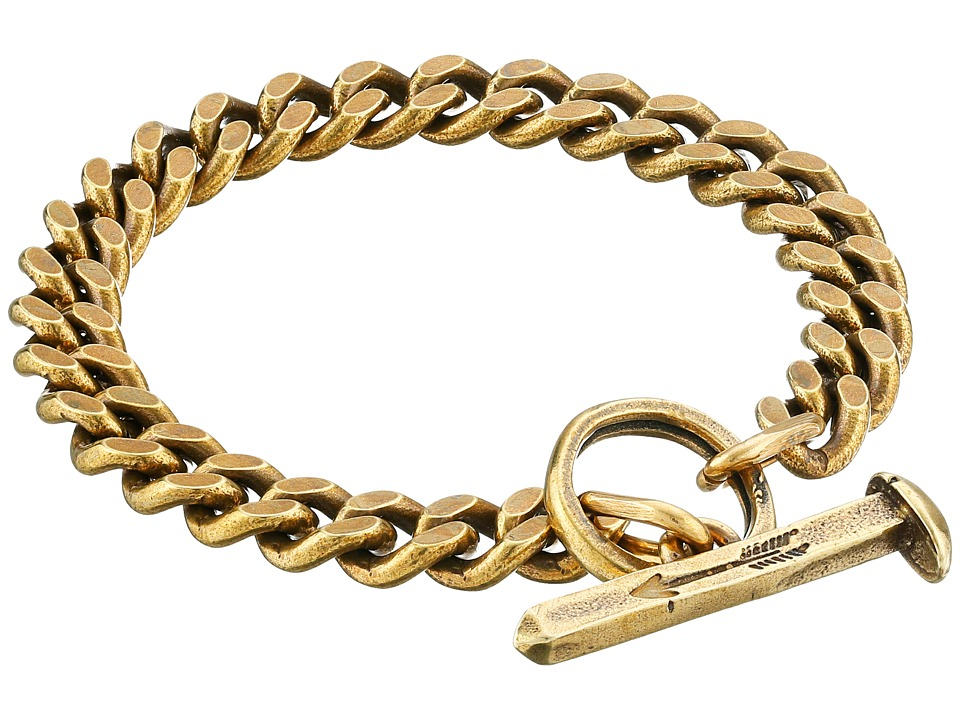 Giles amp Brother Spike Toggle Chain Bracelet Classic Brass Bracelet