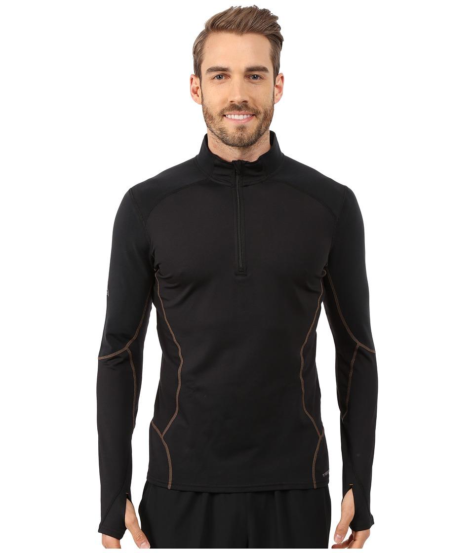 Hot Chillys F9 Endurance 8K Zip Tee Black/Black Mens T Shirt