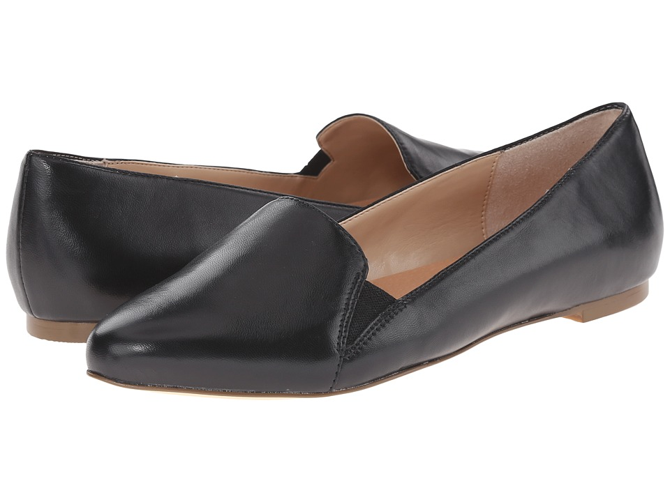 Dr. Scholls Require Original Collection Black Leather Womens Flat Shoes
