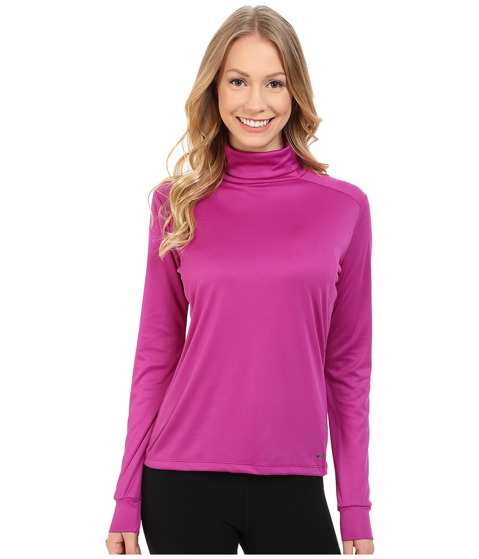 Hot Chillys Peach Roll T Neck Candyland Plum Womens Long Sleeve Pullover