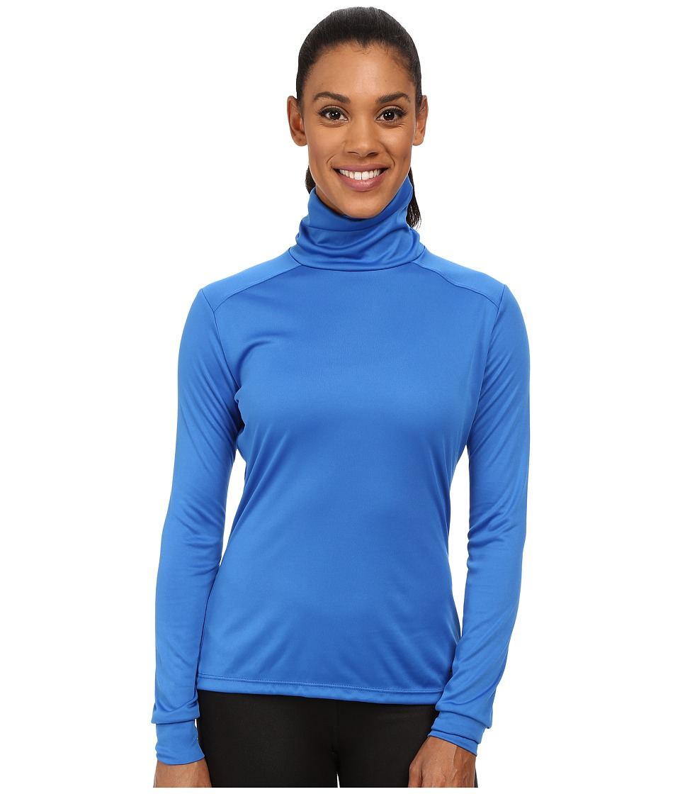 Hot Chillys Peach Roll T Neck Vivid Blue Womens Long Sleeve Pullover