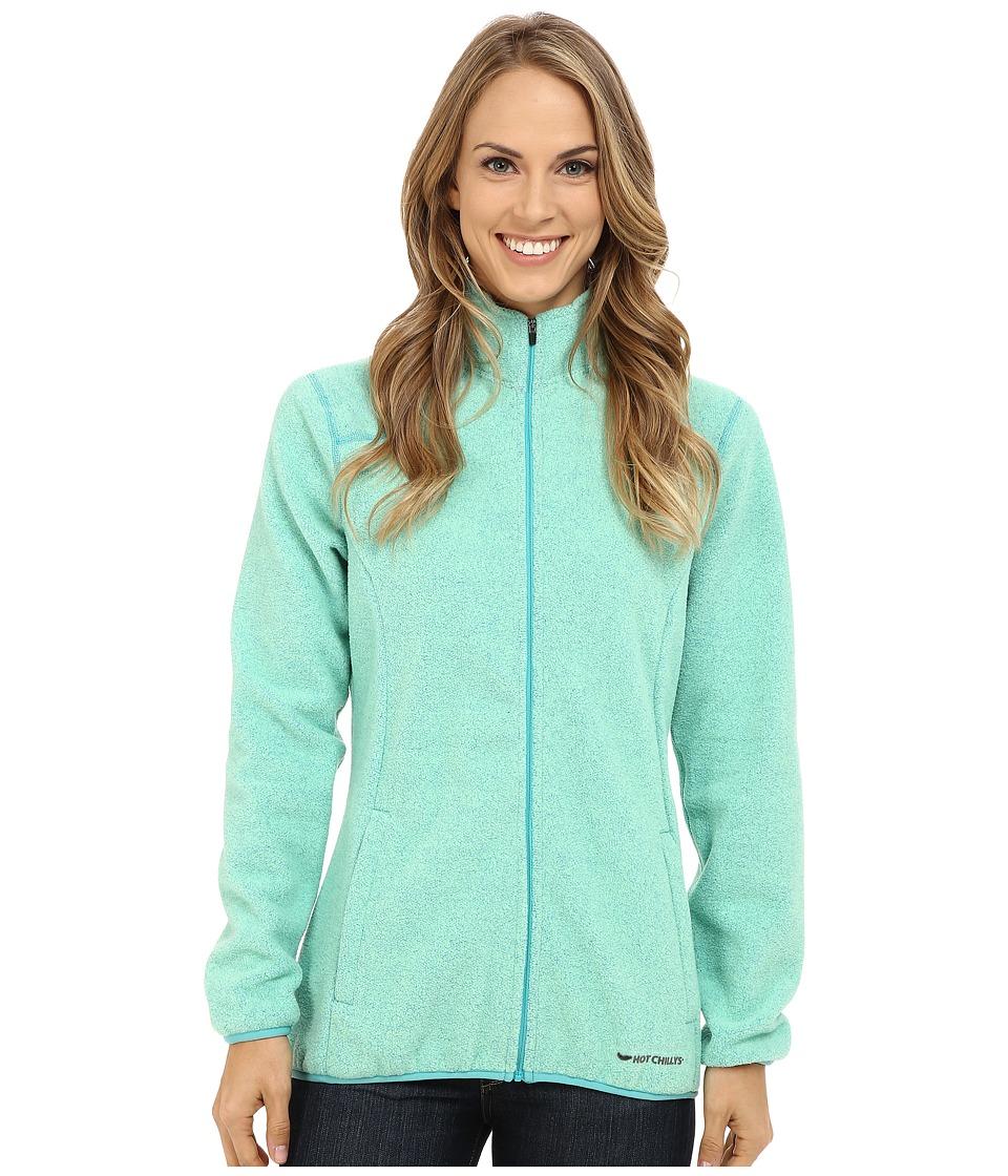 Hot Chillys Baja Zip Jacket w/ Binding Ocean Womens Coat