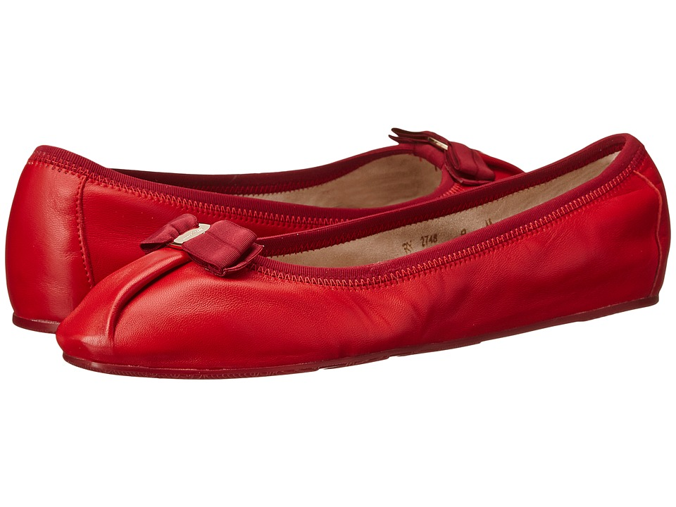 Salvatore Ferragamo My Joy Rosso Nappa Moda Womens Slip on Shoes