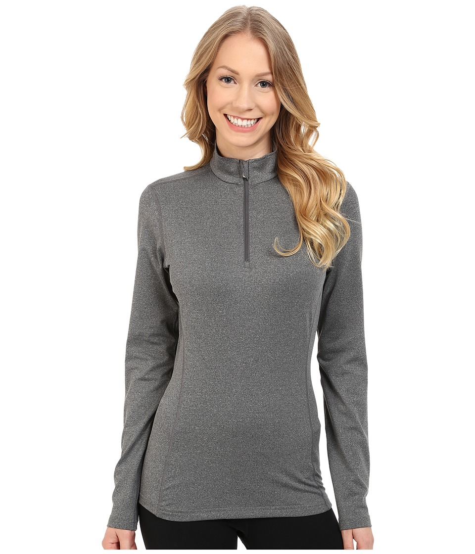 Hot Chillys Micro Elite Chamois 8K Solid Zip T Granite Womens Long Sleeve Pullover