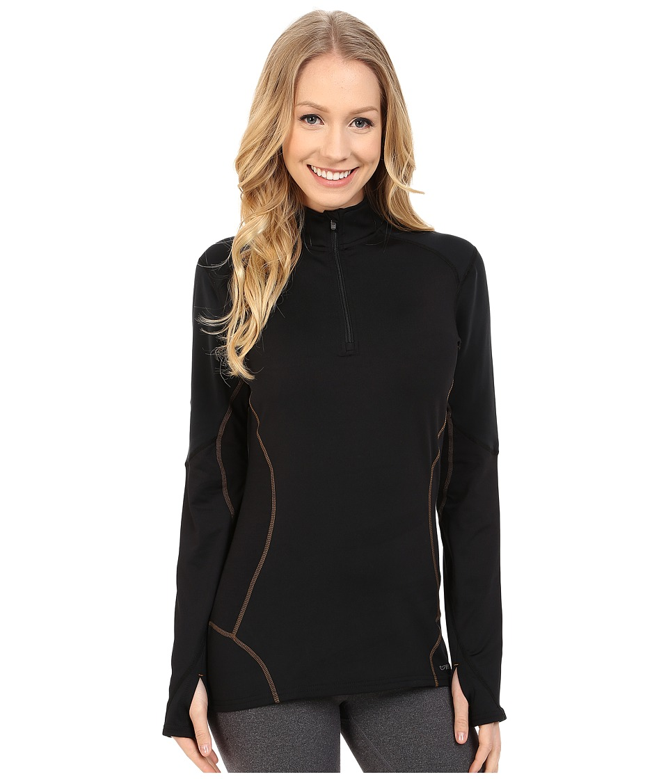 Hot Chillys F9 Endurance 8K Zip Tee Black/Black Womens T Shirt