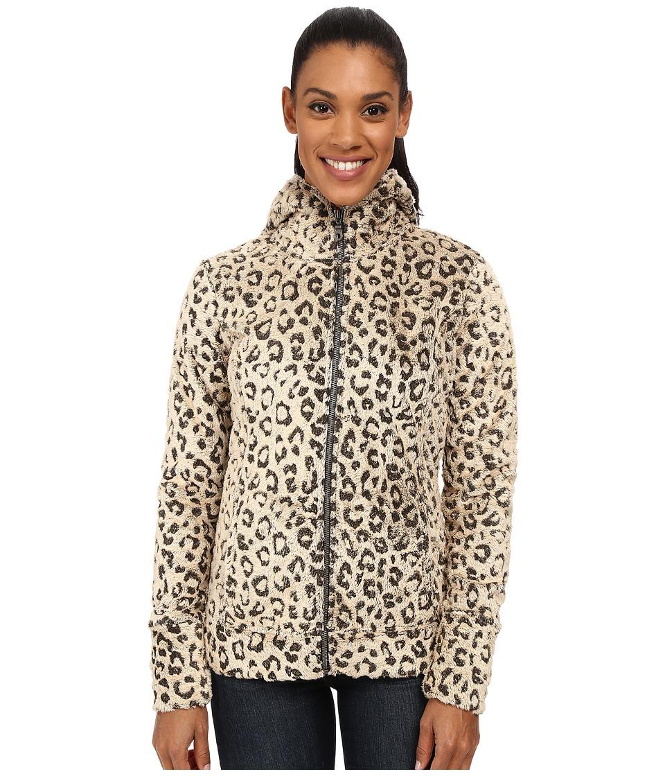 Hot Chillys La Reina Print Zip Hoodie Leopard Pewter Womens Sweatshirt