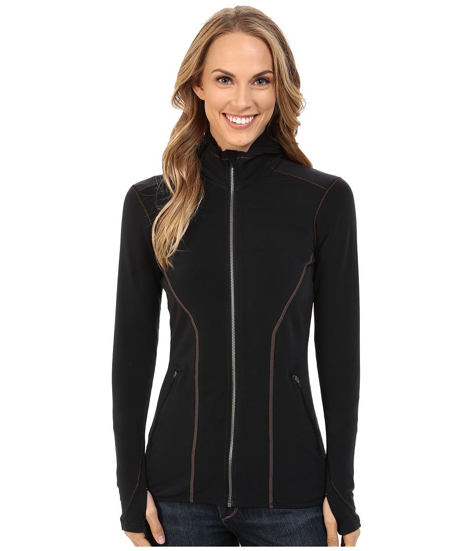 Hot Chillys F10 Endurance Blend 8K Zip Jacket Black/Black Womens Jacket