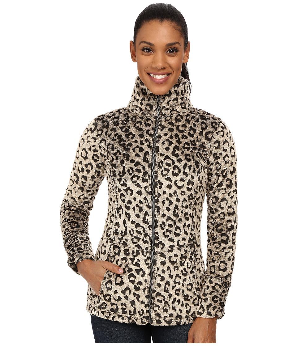 Hot Chillys La Reina Print Zip Jacket Leopard Pewter Womens Coat