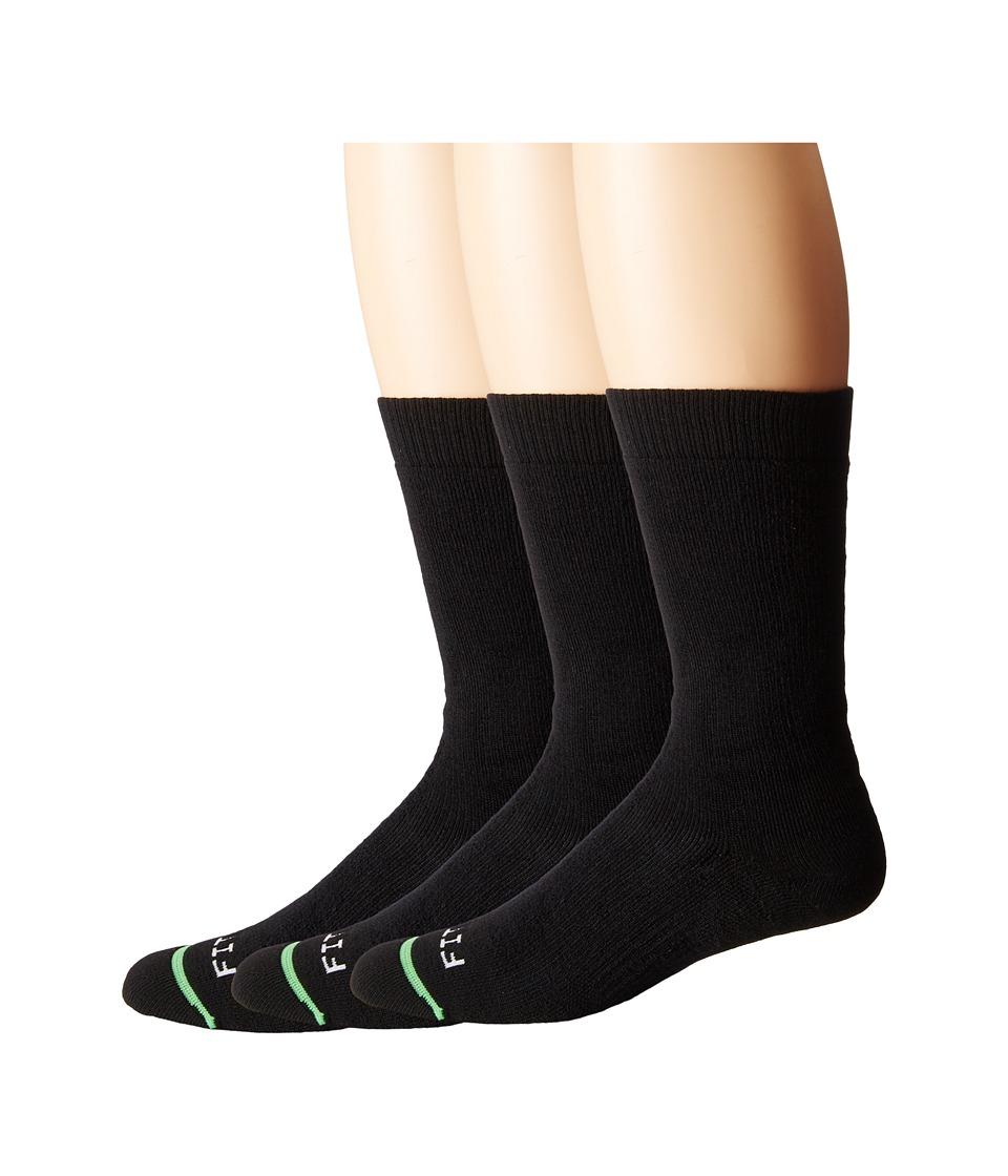 Fits Medium Hiker Crew 3 Pack Black Crew Cut Socks Shoes