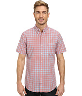 IZOD - Short Sleeve Mini Plaid Lightweight Poplin Shirt