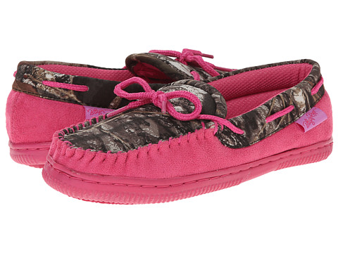 M&F Western Moccasin Slippers (Toddler/Little Kid/Big Kid) - Pink/Mossy Oak