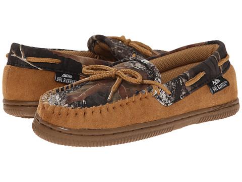 M&F Western Moccasin Slippers (Toddler/Little Kid/Big Kid) - Tan/Mossy Oak