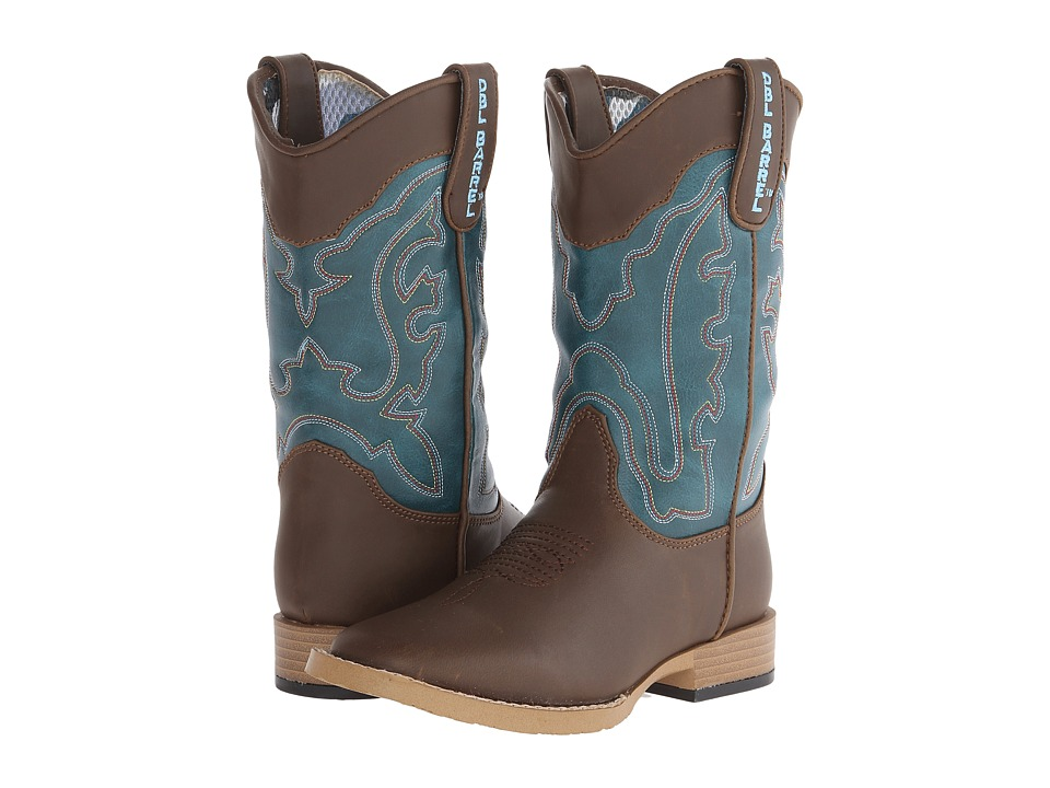 Blazin Roxx Open Range (Little Kid) (Brown/Turquoise) Cowboy Boots