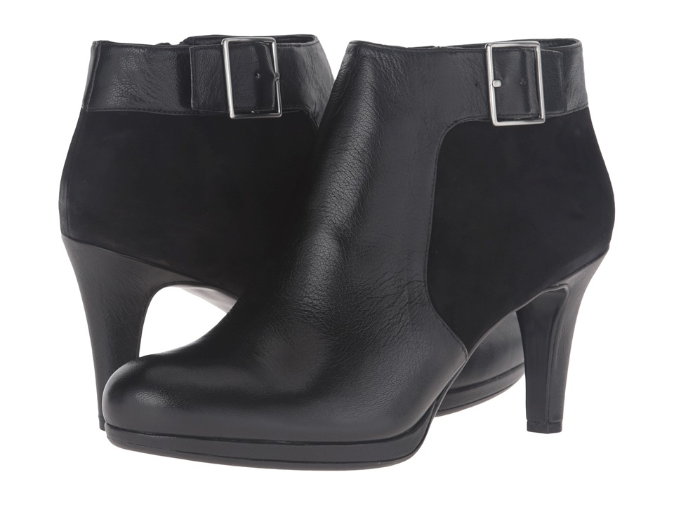Naturalizer - Maureen (Black Leather/Suede) Women