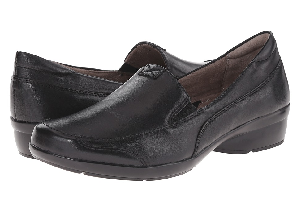 Naturalizer - Channing (Black Leather) Women's Slip on  Shoes