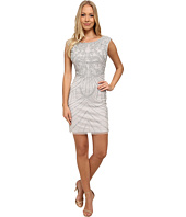 Aidan Mattox - Beaded Cocktail Dress w/ Scroll Motif