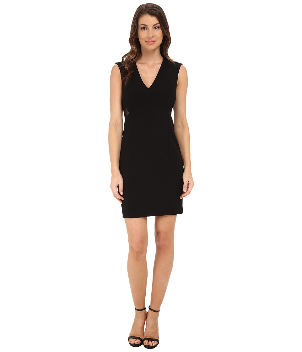 Aidan Mattox Illusion Back Cocktail Dress Black Womens Dress