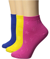 Betsey Johnson - No Show Colorful Socks 3-Pack
