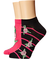 Betsey Johnson - Patterned Betsey Garden No Show Sock 2-Pack
