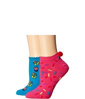 Betsey Johnson - Cake Dreams wtih Pom Pom No Show Sock 2-Pack