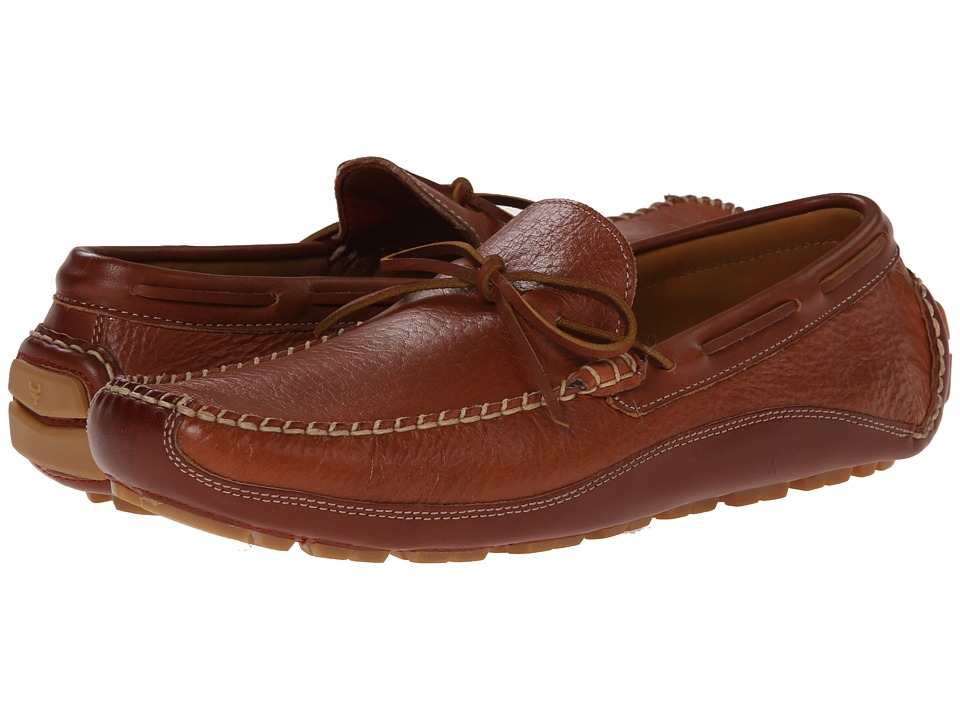 TRASK Drake (Saddle Tan American Bison) Men's Shoes