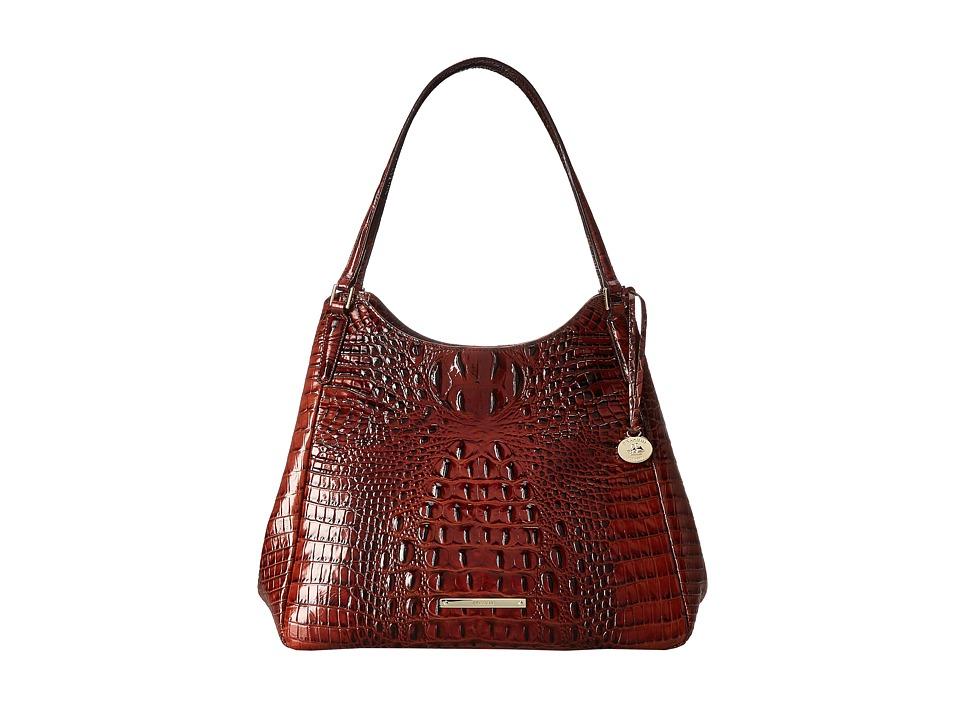 Brahmin Dayton Shoulder Pecan Shoulder Handbags