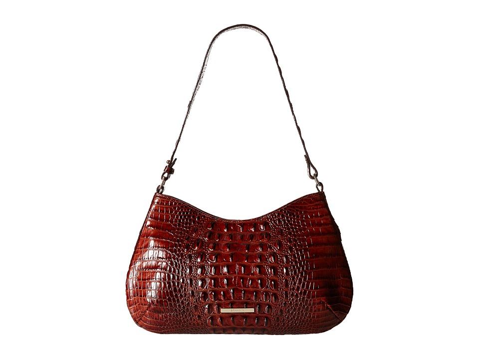 Brahmin Cayson Shoulder Pecan Shoulder Handbags
