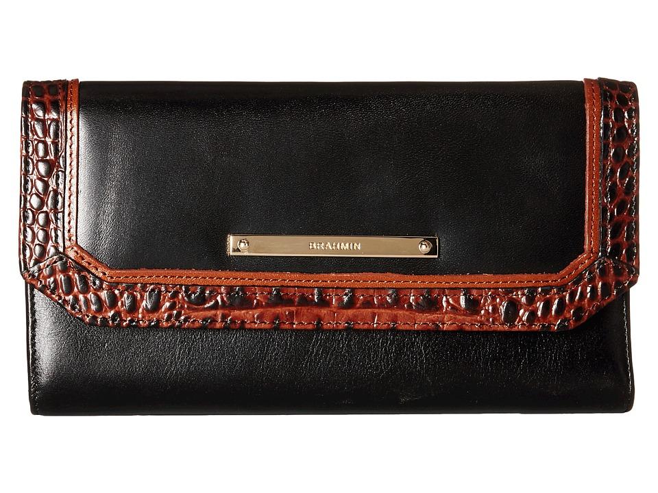 Brahmin Soft Checkbook Black Wallet Handbags
