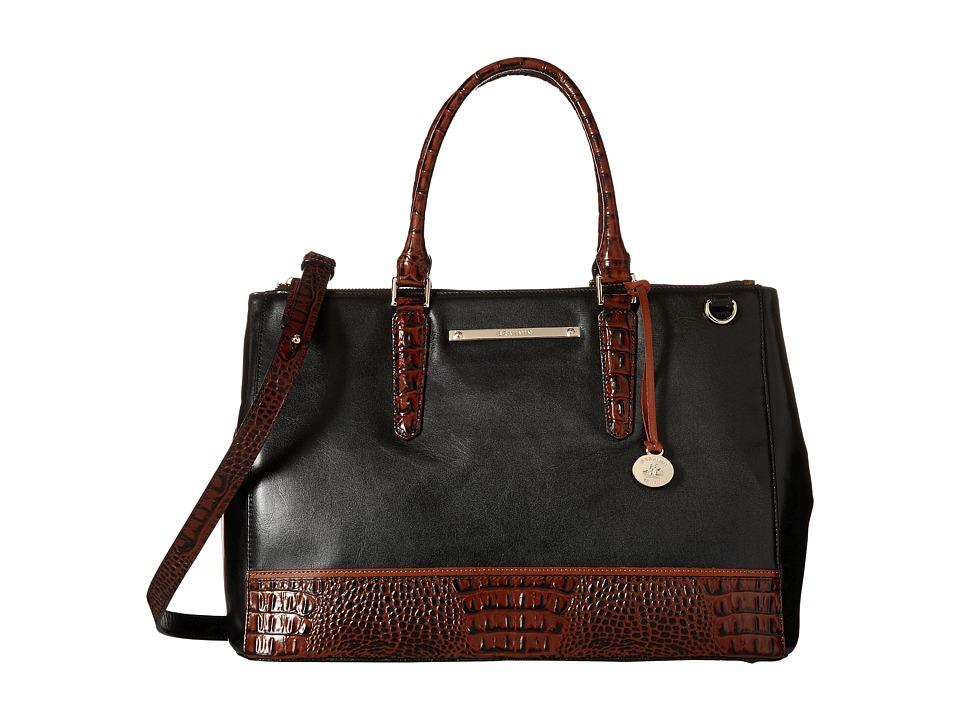 Brahmin Lincoln Satchel Black Satchel Handbags