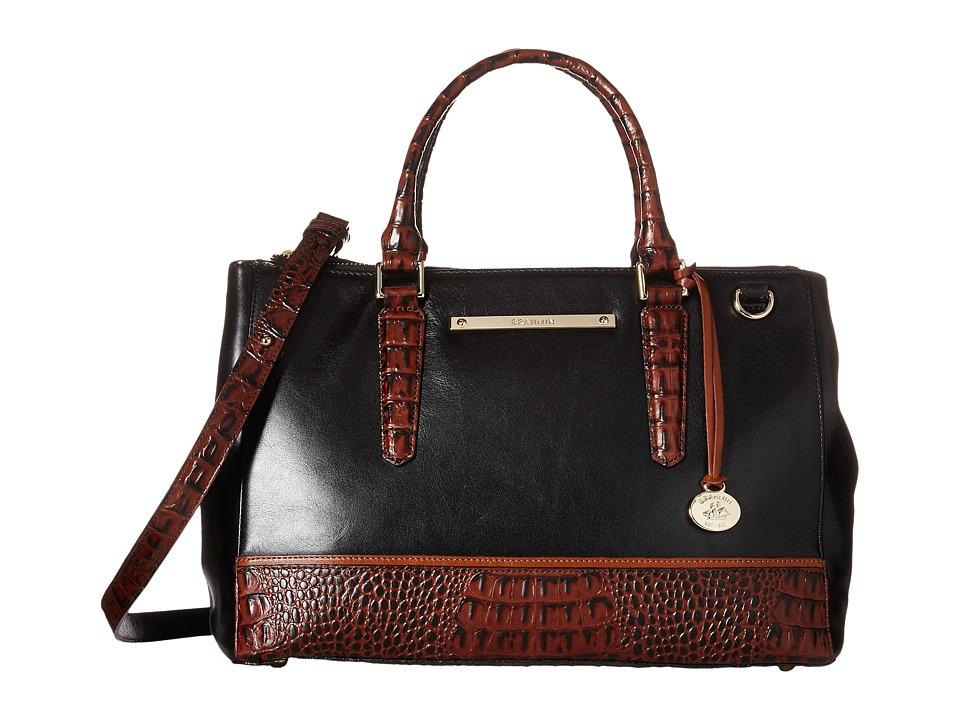 Brahmin Small Lincoln Satchel Black 2 Satchel Handbags