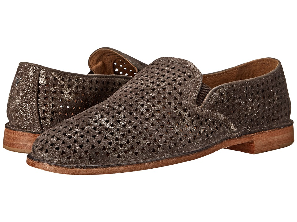 Trask Ali Perf (Pewter Italian Suede) Slip-On Shoes