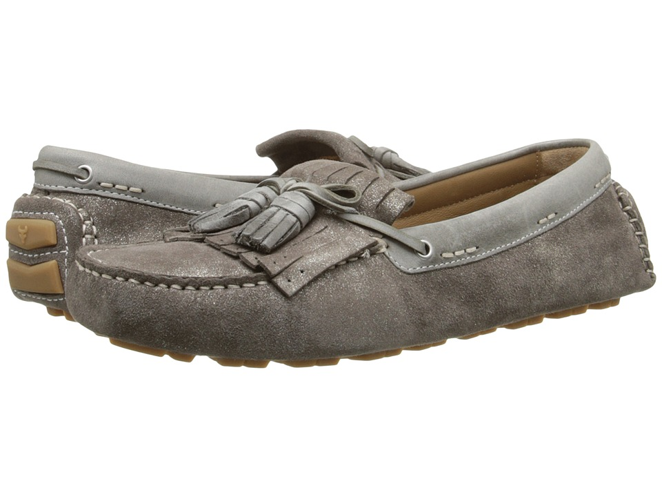 Trask Aimee Pewter Italian Suede Womens Shoes