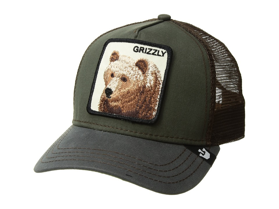 Goorin Brothers Animal Farm Grizz Olive Caps