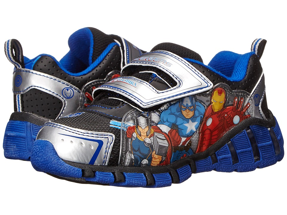 Favorite Characters Avengers AVF317 Lighted Toddler/Little Kid Silver Boys Shoes