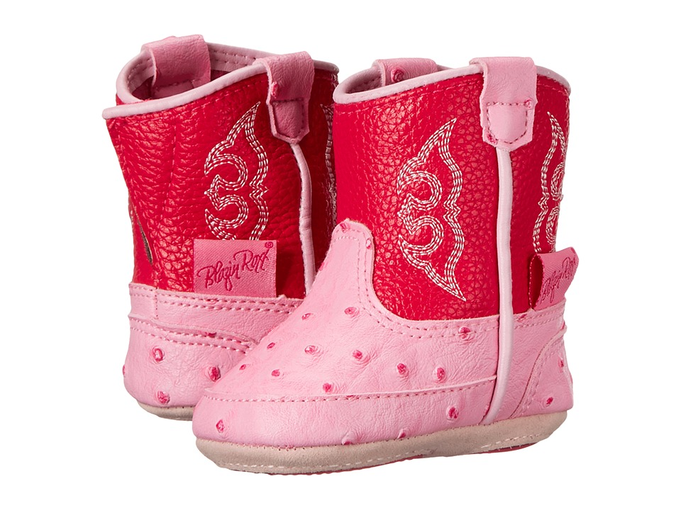 Blazin Roxx Baby Bucker Kinsley (Infant/Toddler) (Pink) Cowboy Boots