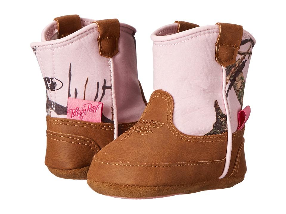 Blazin Roxx Baby Bucker Jobie (Infant/Toddler) (Mossy Oak/Pink) Cowboy Boots