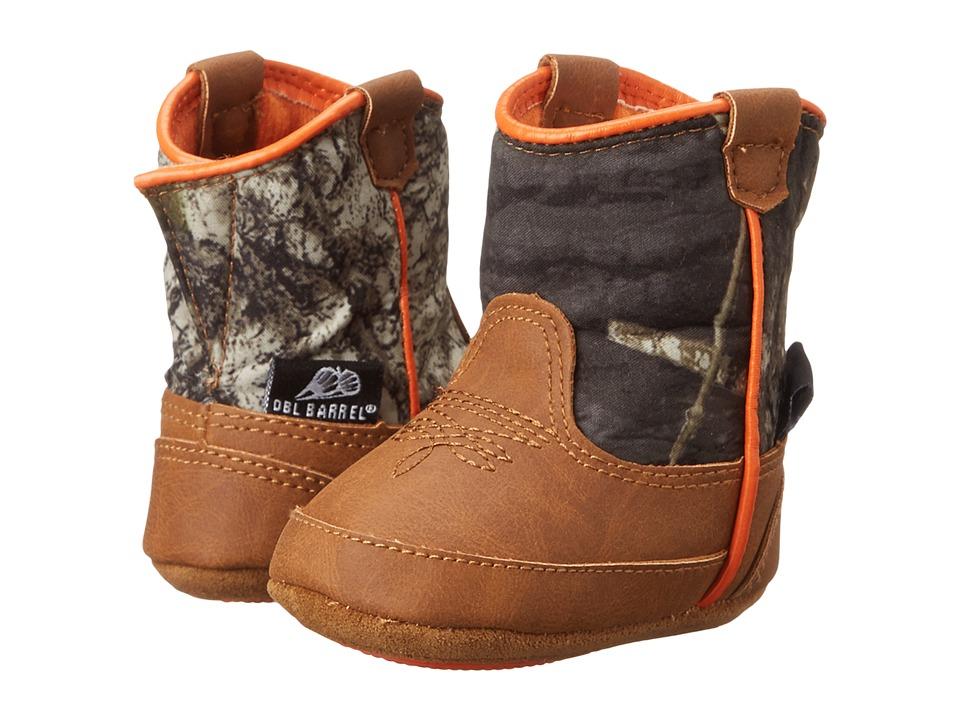 M&F Western Kids - Baby Bucker Gunner (Infant/Toddler) (Mossy Oak/Orange) Cowboy Boots