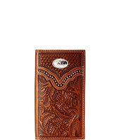 M&F Western - Embossed Floral Oval Concho Rodeo Wallet