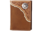 M&F Western Star Concho Tri-Fold Wallet (Brown)